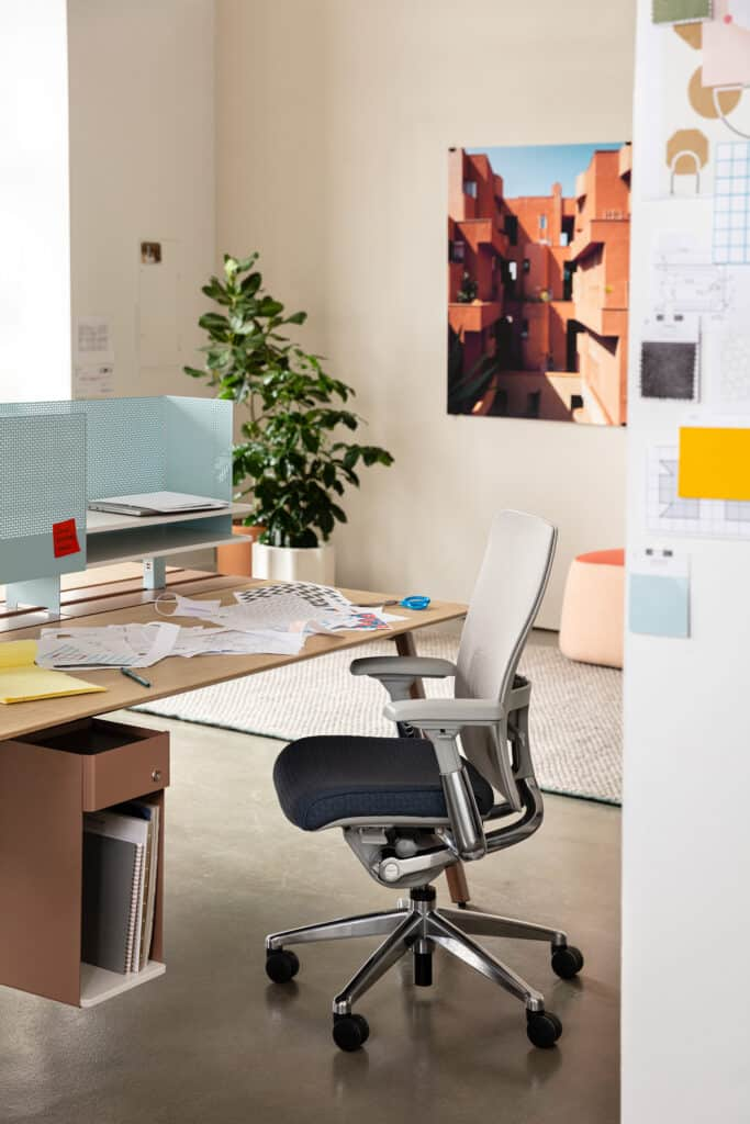 haworth zody chair staged in an office